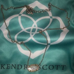Kendra Scott Opal and gold Elisa Necklace